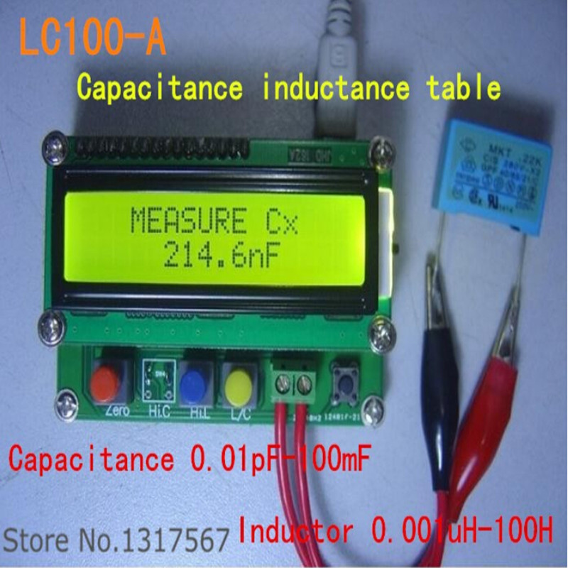 LC100-A Digital LCD High Precision Inductance Capacitance L/C Meter capacitor Test Instruments  Free Shipping  цены