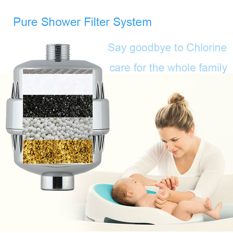 2pcs in line shower filter softener chlorine removal water purifier for home bathroom kitchen. Black Bedroom Furniture Sets. Home Design Ideas