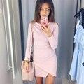 Kaywide serie vestidos de moda 2016 mujeres de invierno nuevo estilo sexy asimétrico diseño otoño midi dress for women a16342