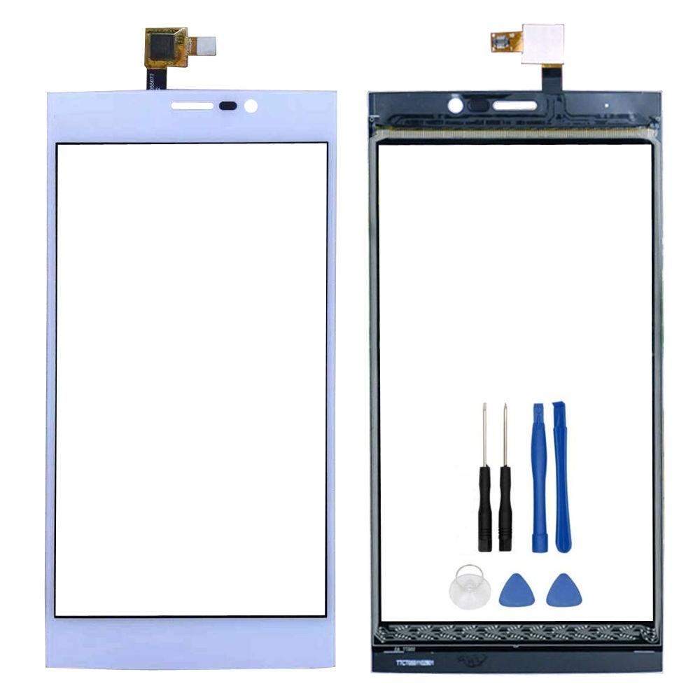 D'origine pour Wiko Ridge Fab 4G Écran Tactile Digiziter Remplacement Écran Tactile TP pour Wiko Ridge Fab 4G livraison Gratuite-Blanc + outils