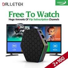 Dalletektv Europa Francés Árabe IPTV Canales 4 K T95Zplus Android 6.0 Smart TV Box QHDTV Suscripción Francés Turco REINO UNIDO IPTV caja