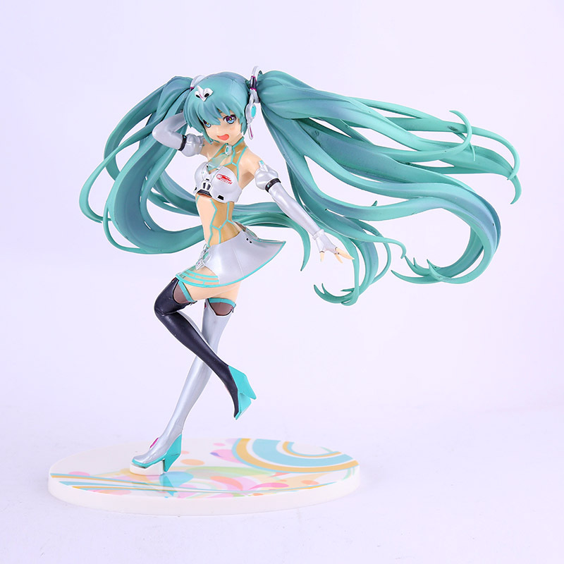 Japan Anime Hatsune Miku Figure VOCALOID 2012ver. Racing Miku PVC Action Figure Collectible Model Doll Kids Toys Brinquedos 20cm anime hatsune miku greatest idol ver electric guitar miku pvc action figure collectible model toy 20cm zy585
