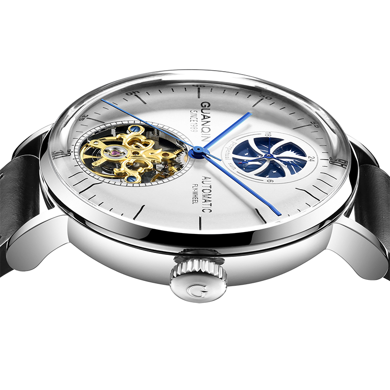 High end Mechanical Watch GUANQIN Automatic Watch men Tourbillon Moon phase Sapphire Mirror 48 hours energy storage Reloj hombreHigh end Mechanical Watch GUANQIN Automatic Watch men Tourbillon Moon phase Sapphire Mirror 48 hours energy storage Reloj hombre