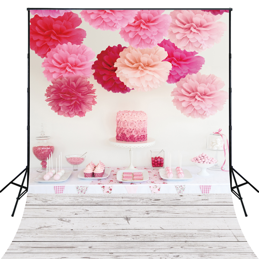 4X6ft Art Fabric Floral Flowers Photography Backdrop for photos Birthday Photo Back Drop D6101 300cm 200cm about 10ft 6 5ft backgroundswoods windmill flowers photography backdropsvinyl photography backdrop 3302 lk