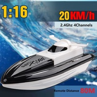 Remote Control Ship 2.4Ghz 20KM/H RC Boats High Speed Mini Racing Speedboat Remote Control Boat Model Toy for Children Kids Gift