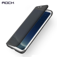For Samsung S8 Case For Samsung S8 Plus Flip Case ROCK Dr V Series Luxury Transparent