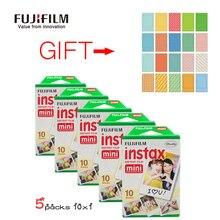 Fuji Fujifilm Instax Mini 8 пленка 50 листов для Fujifilm момент Мини 7 s 25 50 s 90 камера с Бесплатный подарок 20 листов наклеивать