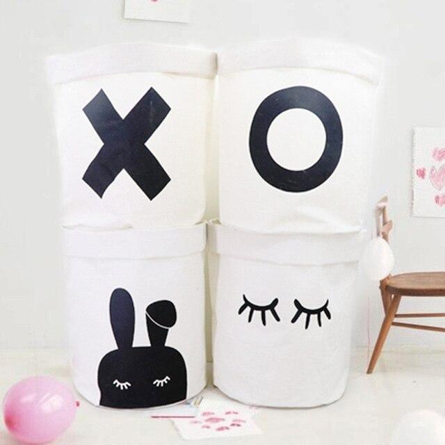 Nordic Laundry Basket for Kids Room
