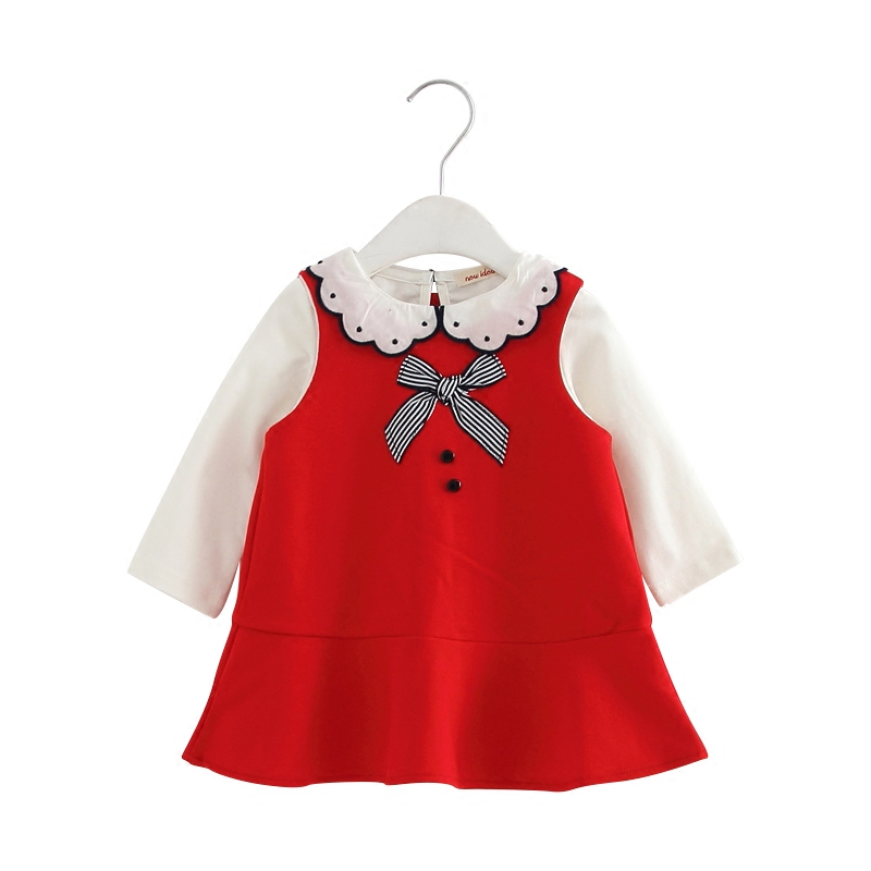 0-3Years Kids Clothes for Girls Peter Pan Collar Shirts+Mermaid Dress Suit Children's Clothing Sets Baby Toddler Set red kids dress set for girls dress shirts 2pcs sets clothes set for big teenager clothing girls princess dress h92
