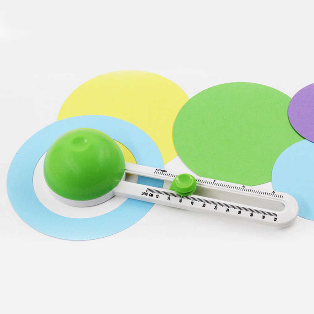 Round Scrapbooking Hand Tool Art Craft Paper Knife Multi-functional Circle Cutter Patchwork Mini Rotary Cards Making Pictures