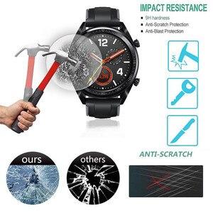 Image 3 - מזג זכוכית על עבור Huawei שעון GT מגן זכוכית Smartwatch מסך מגן סרט נגד שריטות פיצוץ הוכחה 9H גלאס