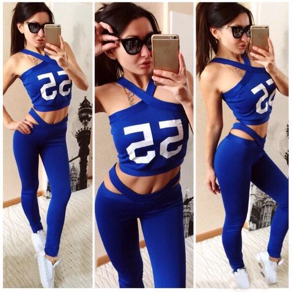 New O neck sleeveless Letter Print Solid Sport Suits For font b Women b font Brand
