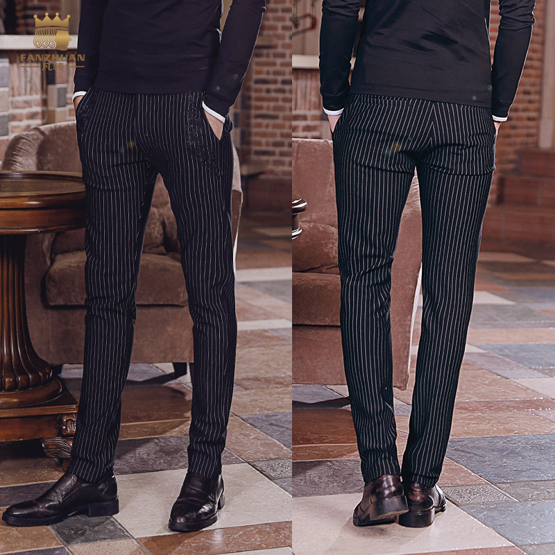 Fanzhuan free shipping New pants fashion male man 2018 men's trousers business casual pants striped trousers all-match 818004