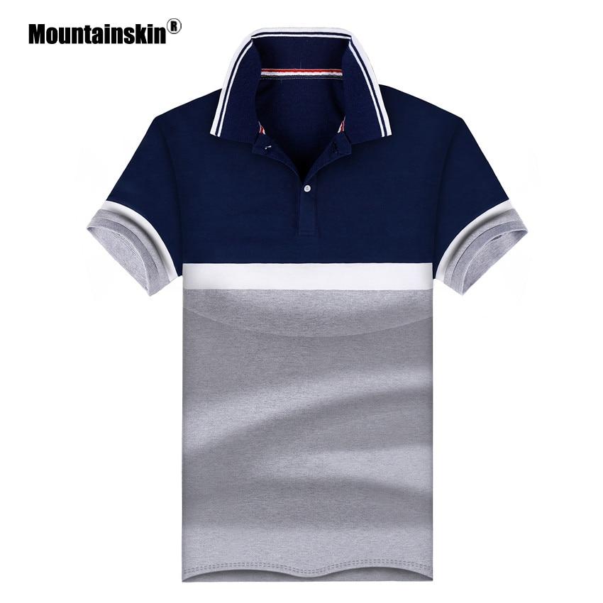 Mountainskin 4XL 2018 Summer Men's   Polos   Breathable Cotton Short Sleeve Boys   Polo   Shirts Casual Turndown Collar Male   Polos   SA469