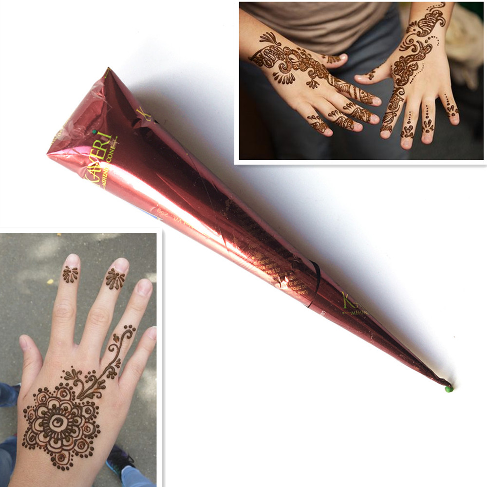 Henna Tattoo Color Brown: Aliexpress.com : Buy Natural Indian Mehndi Brown Color