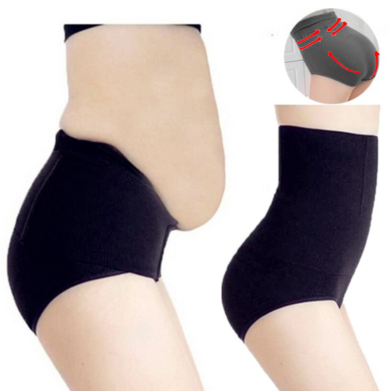 8499bbed27f28 Women High Waist Tummy Control Panties Waist Body Shaper Seamless Belly  Waist Slimming Pants Panties Shapewear Girdle Underwear-in Control Panties  from ...