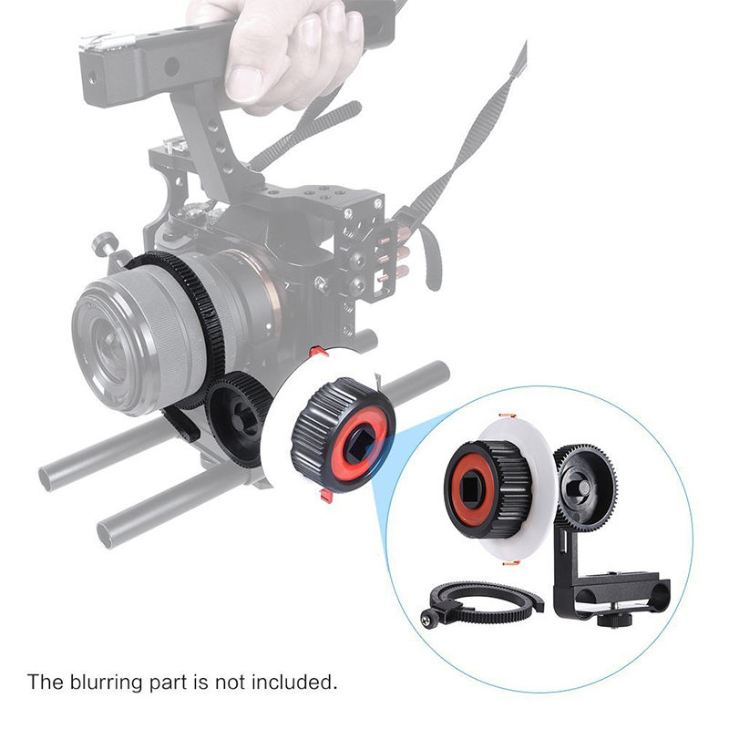 NEW CS-FO ILDC Aluminum Alloy Camera Follow Focus with Gear Ring Belt for Panasonic SO A7 A7II A7R GH4 Mirrorless ILDC Camera