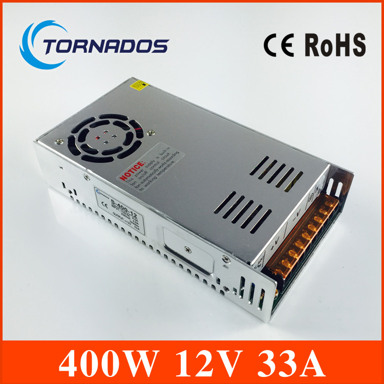 high quality power supply 12v 33a Single Output Switching power supply unit 400W 12V 33A ac to dc power supply S-400-12 220v to 12v 400w 33a switching power supply dc power adapter monitor power supply