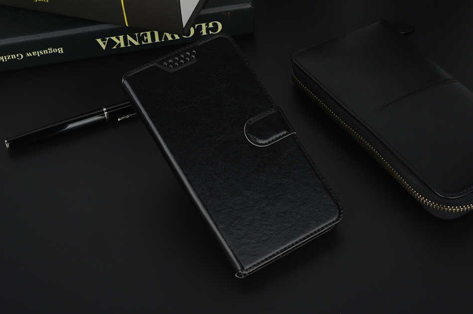 جلد لينة حالة ل فودافون الذكية V8 VDF710 VDF-710 N8 VDF610 E8 VDF510 فليب الواقف محفظة حالة غطاء كوكه الحافظة الحقيبة