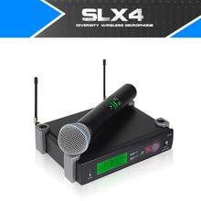 Беспроводной микрофон Регулируемая частота UHF SLX24/BETA58A профессиональный ручной петличный микрофон наушники одноканальный логотип OEM