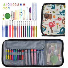 New Crochet Needles Set Mix 19pcs Hooks Big Size 8.0 9.0 10.0mm Yarn Weave Knitting Needle With Bag For Women