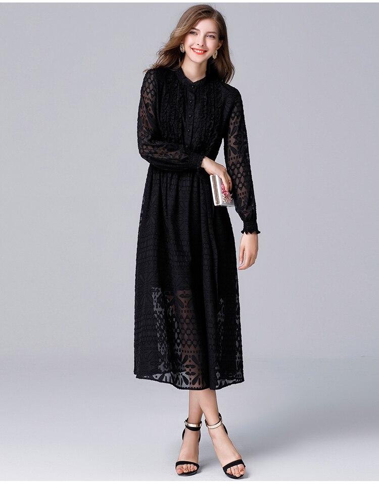 Kadın Giyim'ten Elbiseler'de Kadın Giyim Yeni Avrupa Ve Amerikan Mizaç bel kemeri Belle Elbise Artı Boyutu Feminino Ofis Elbise L 5XL 14048'da  Grup 3
