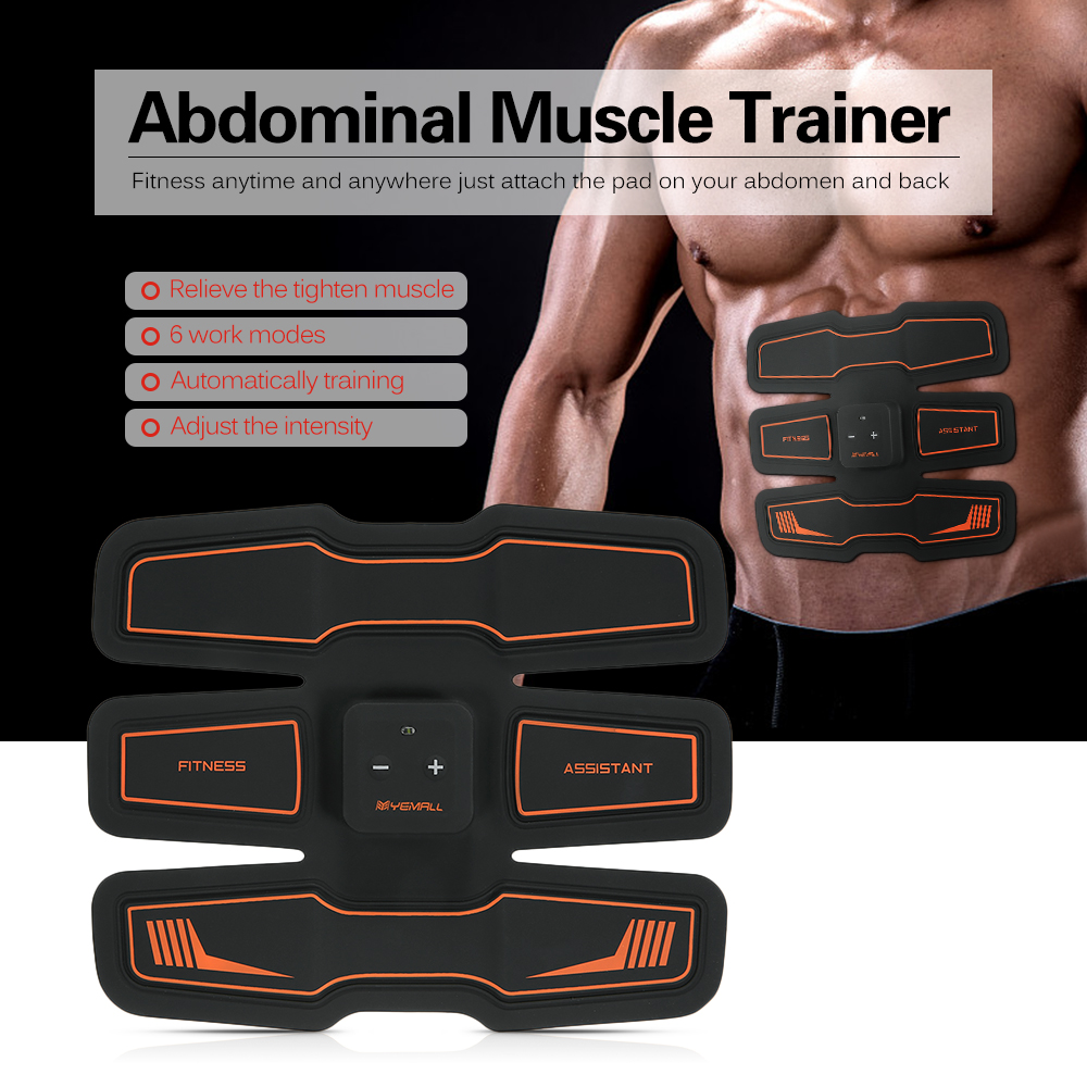 Abdominal Muscle Trainer Body Massager Patch Fitness Toner Belly Leg Arm Exercise EMS Stimulation Abdominal Muscle