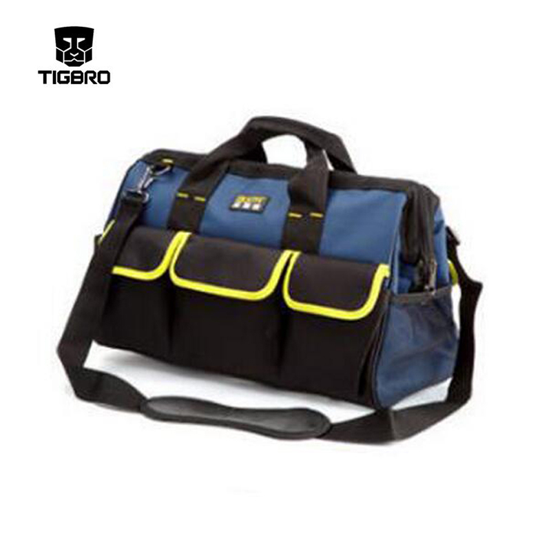 Multifonctionnel sac épaississement matériel multifonctionnel électrique kit de réparation une épaule toile sac sac à outils DB005
