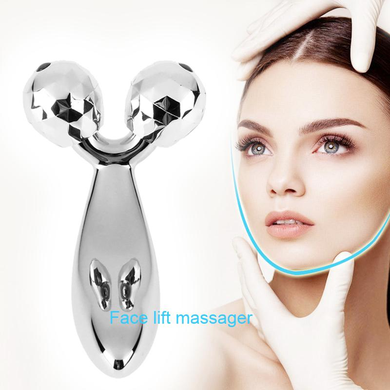 3D Roller Massager 360 Degree Thin Face Full Body Shape Massager Lifting Wrinkle Remover Facial Massage Relaxation Tool jade massage roller face massager facial relaxation slimming tools face relif anti wrinkle anti cellulite body massage tool girl