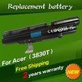Batería del ordenador portátil para acer 3inr18/65-2 as11a3e as11a5e jigu aspire timelinex 3830 t 4830 t 4830tg 5830 t 5830tg id57h 4400 mah 6 celdas