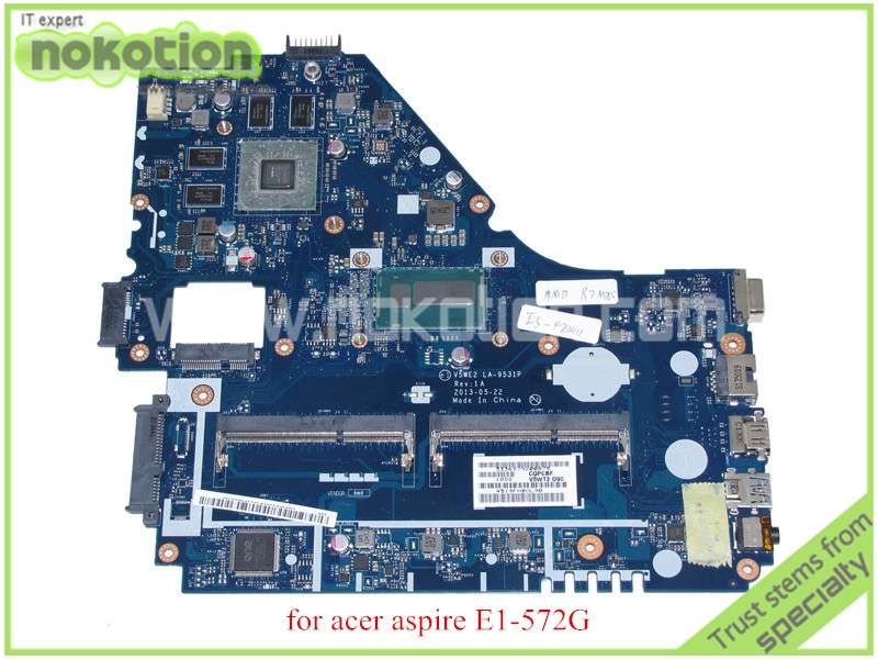 NOKOTION V5WE2 LA-9531P Rev 1A for acer aspire E1-572G laptop motherboard i5-4200u CPU + Radeon R7 M265 DDR3LNOKOTION V5WE2 LA-9531P Rev 1A for acer aspire E1-572G laptop motherboard i5-4200u CPU + Radeon R7 M265 DDR3L