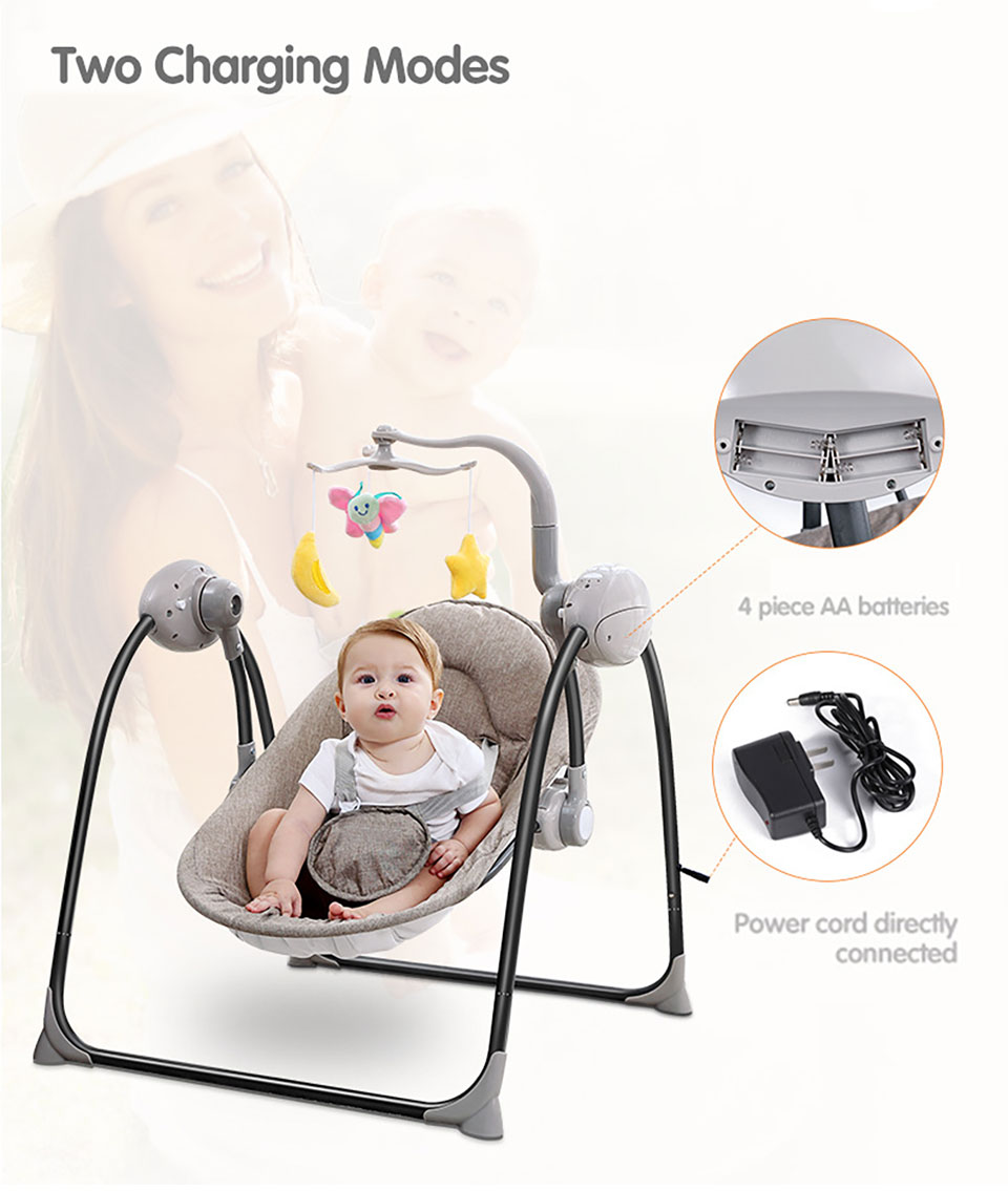 HTB1HjNga.zrK1RjSspmq6AOdFXaC IMBABY Baby Swing Baby Rocking Chair Electric Baby Cradle With Remote Control Cradle Rocking Chair For Newborns Swing Chair