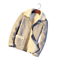 LEFT ROM Winter Fake Fur Stitching Men S Coats Fashion Hot Teen Slim Warm Clothing Comfortable