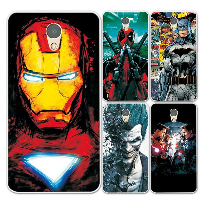 For Lenovo P2 Case Cover Charming Marvel Avengers Captain America Shield Iron man Fundas For Lenovo Vibe P2 P2C72 Soft Case