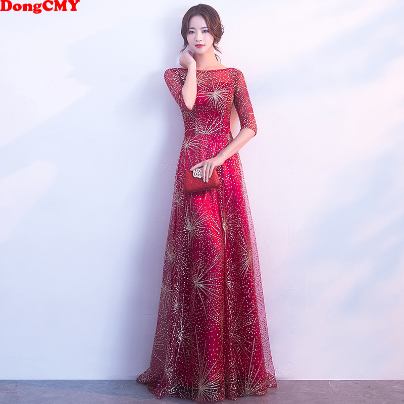 DongCMY 2019 New Formal Long   Evening     Dresses   Party abiye Star robe de soiree Vestidos Prom   Dress