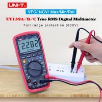 Digital Multimeter UNI T UT139A UT139B UT139C True RMS Auto/Manual range AC DC voltmeter Ammeter ohmmeter Capacitance Tester NCV