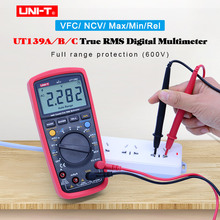 True RMS 디지털 멀티 미터 AC DC 전압 전류 측정기 옴 커패시턴스 테스터 UNI T UT139A UT139B UT139C 자동/수동 범위 NCV