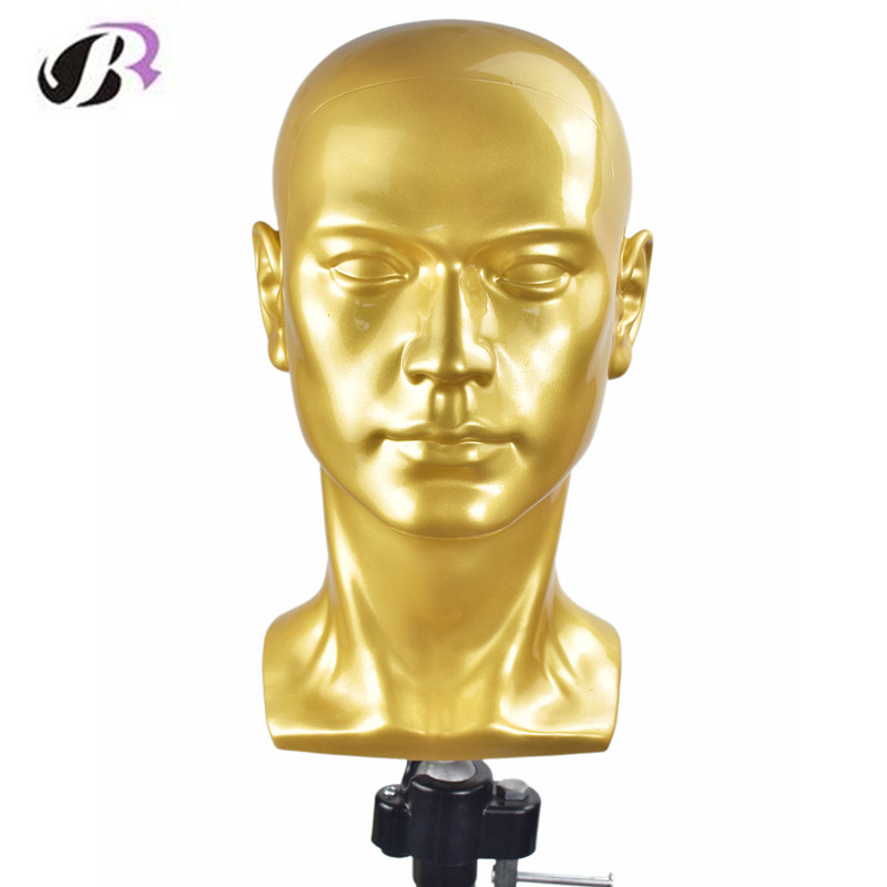 New Arrival Male Mannequin Head With Ears Men Smooth Mannequin Head Model Wig Hat Glasses Caps Display Creative PVC Manikin Doll new 2pcs female right left vivid foot mannequin jewerly display model art sketch
