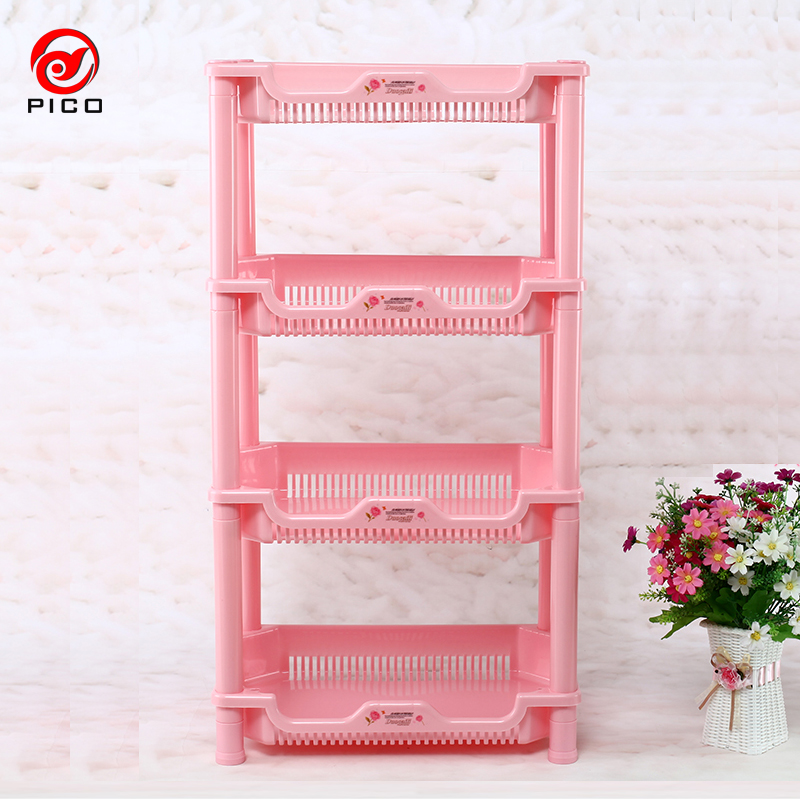 4 Tier Storage Shelf Rack Kitchen Plastic Gap Spice Rack Holder ...