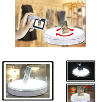 HQ LT02 LUMINOUS 400X80MM Light Glowing Electric Rotary Rotating Turntable 360 Degree Display Stand