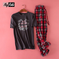 Plus Size 100 kg 100% katoen korte mouwen pyjama mannen zomer thuis Eenvoudige casual mens Nachtkleding pijamas pyjama sets voor mannelijke