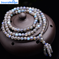 JoursNeige Natural AAA Ice Species Blue Moonlight Beads Stone Buddha for Women Crystal Bracelet Multilayer Jewelry Accessories