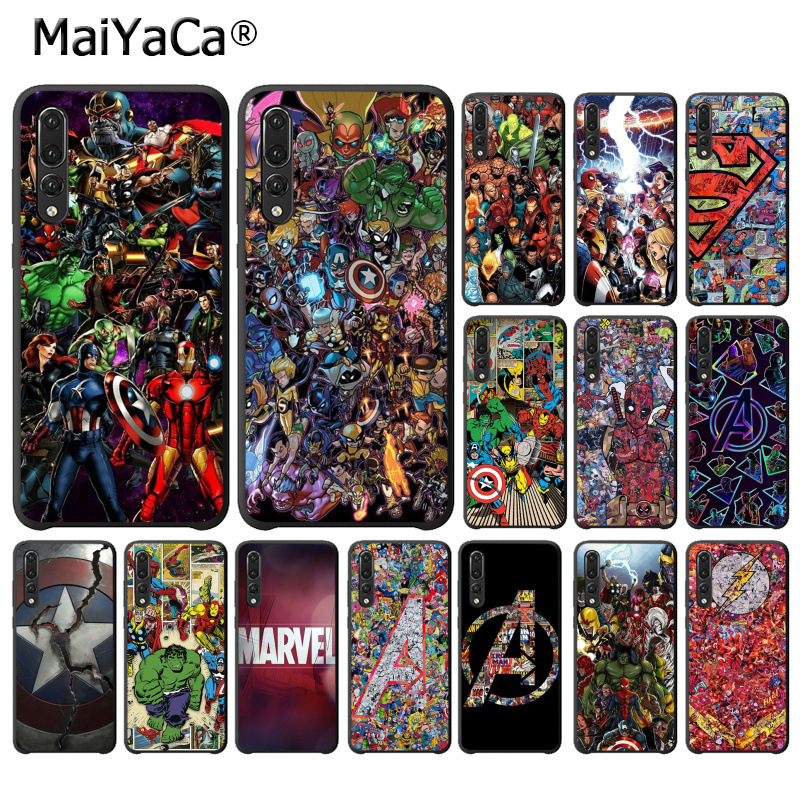 MaiYaCa Marvel Avengers Heros Comics Collage Cute Phone Case for Huawei P10 plus 20 pro P20 lite mate9 10 lite honor 10 view10 чехлы марвел