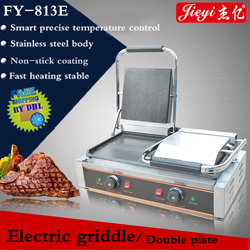 Commercial Stainless steel Electric Griddle double plate 220V/1800W+1800W Smart precise temperature control