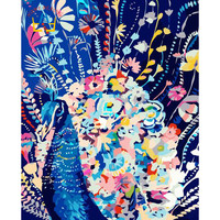 Diy Digital Painting Hand Painted Canvas Oil Paintings Decorative Peacock Pictures For Bedroom Oil Painting By