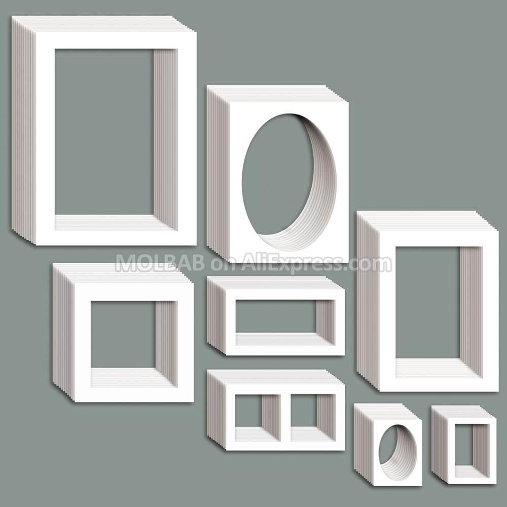 Online Shop Photo Frame Mat White/Black Paper Passe-Partouts 7/12/16 ...