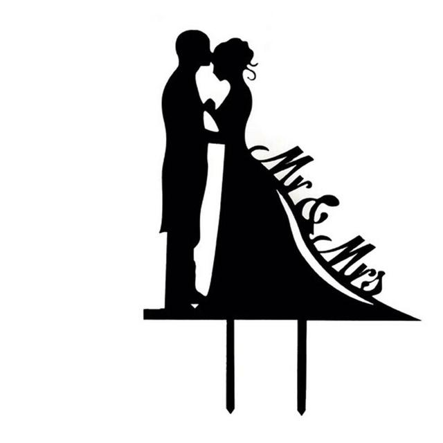 Mr Mrs With Bride And Groom Style Kissing Wedding Cake Topper