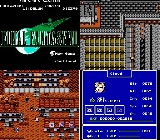 Final Fantasy Vii English Game Cartridge For Nes Console Cases Aliexpress