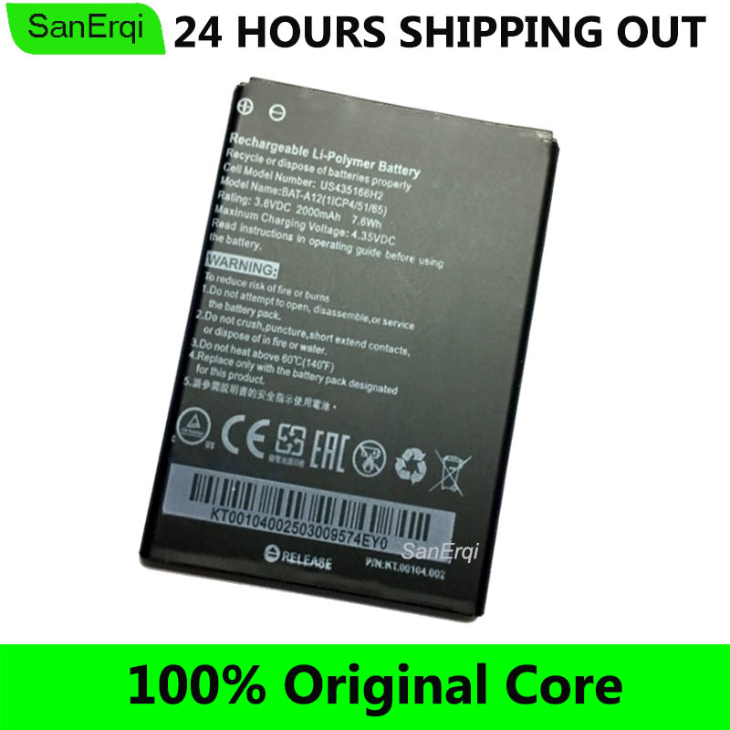 BAT-A12 For Acer Liquid Z520 Battery 2000mAh (P/N BAT-A12(1ICP4/51/65) KT.00104.002) Dual SIM High Quality