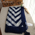 Luxury Scarf Women Brand 2016 Fashion Beige and Navy Twilly Striped Printed Scarf Feminino Cotton Blend Scarves and Stoles Free